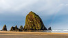 Cannon Beach - Haystack Rock with Rainbow - Oregon Coast