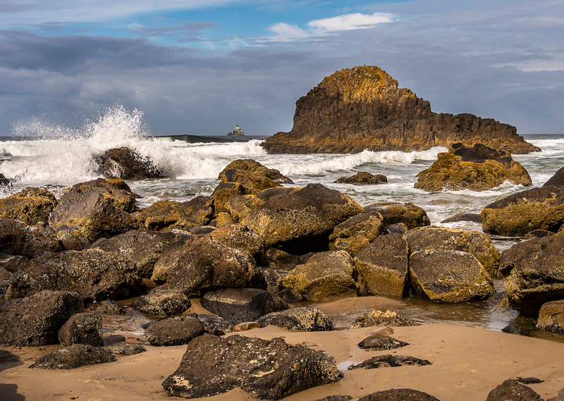 Indian Beach - Ecola State Park - Tillamock Rock Lighthouse - Oregon Coast