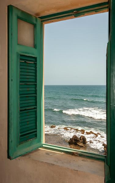 Puerto Rico 2013 - Old San Juan - View of ocean from storage bui