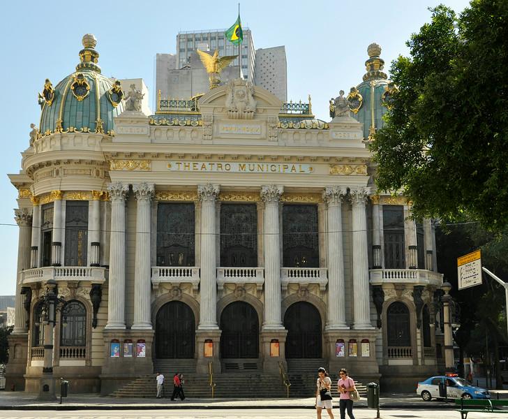 Rio de Janeiro 2013 - Downtown Tour - Municipal Theater - Cinelandia Square