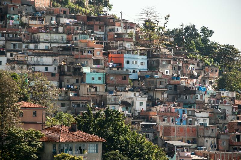 Rio de Janeiro 2013 - Downtown Tour - Favela near Santa Teresa
