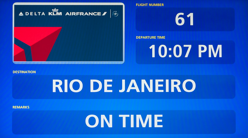 Rio de Janeiro 2013 - Departure Information