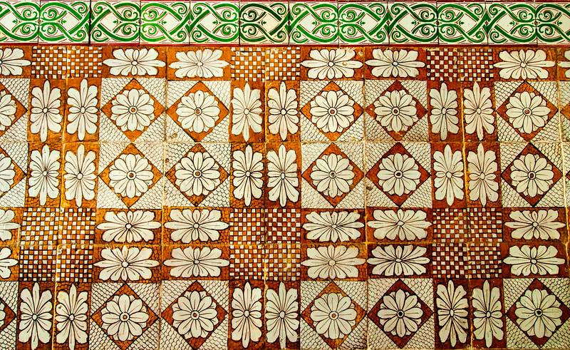 Rio de Janeiro 2013 - Downtown Tour - Sao Bento Monastery - Hand-painted Tiles