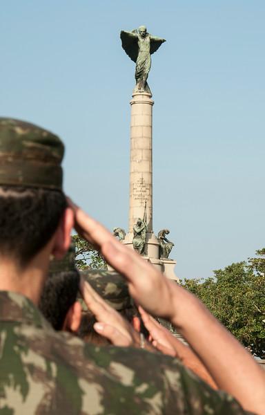 Rio de Janeiro 2013 - Near Entry of Sugarloaf - Military Parade Practice