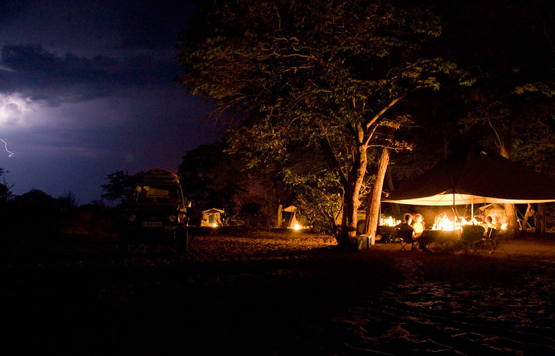 A rare storm in October in the Chobe area of Botswana