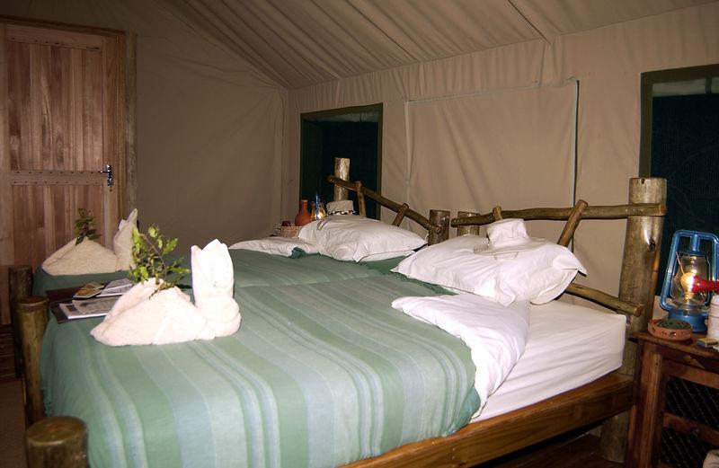Kaparota camp tent interior