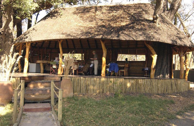 Kaparota Camp main building, Okavango area Botswana