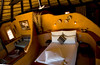 Interior of Okinjima bush camp hut, Namibia