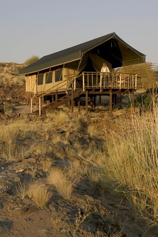 Tent at Palmwag camp Namibia