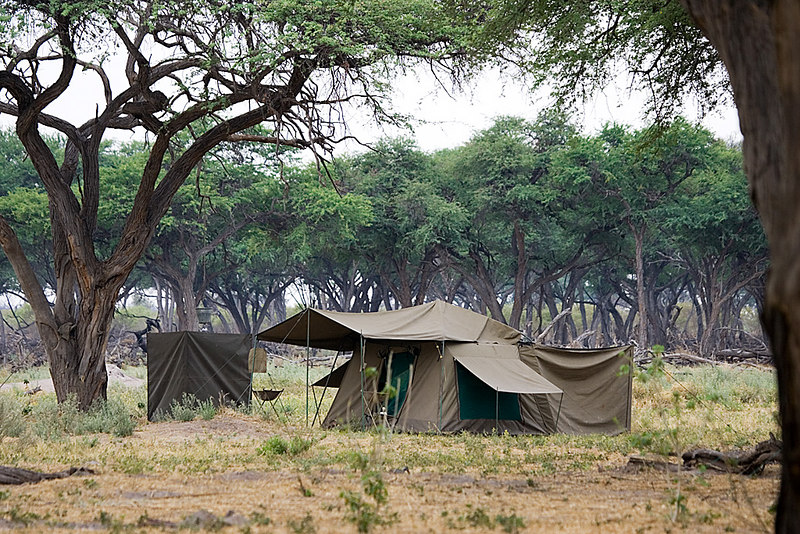 Mobile camping in the Kwhai area of Botswana