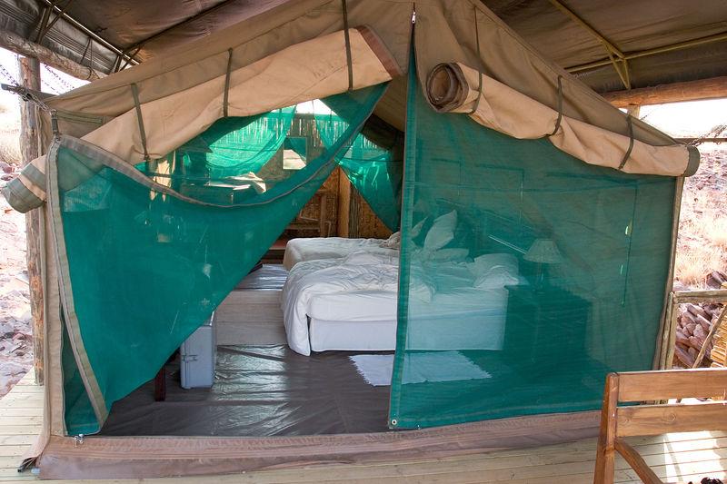 Tent Palmwag Rhino camp, Namibia