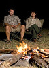 Around the campfire - moblie camping in Botswana
