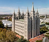 Temple Square - The Temple as seen from the top floor of the Joseph Smith Building