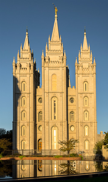 Temple Square - The Temple at Sunrise