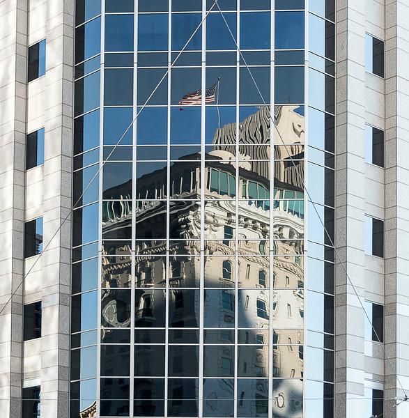 Downtown - Reflection of Joseph Smith Memorial Building