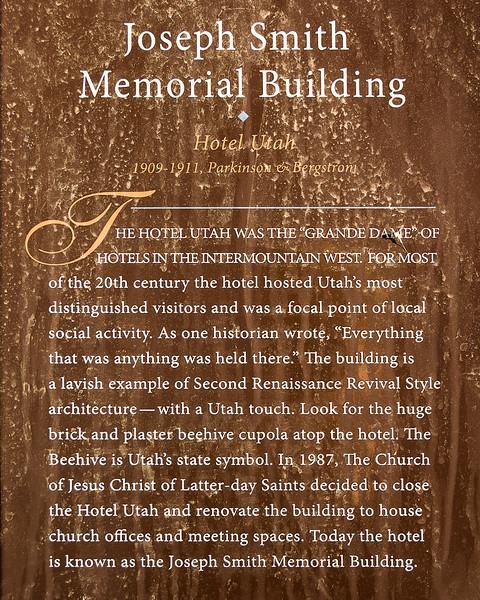 Temple Square - Joseph Smith Memorial Building