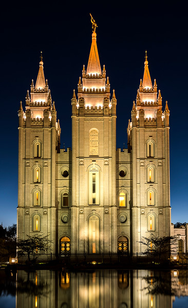 Temple Square - The Temple at Night