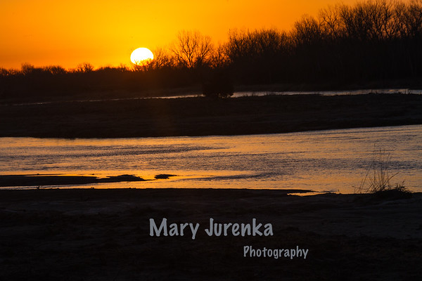 Sunrise on Platte River
