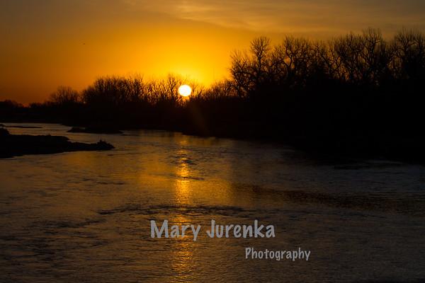 Sunrise on Platte River