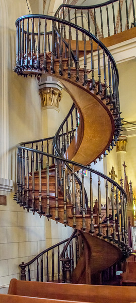 Loretto Chapel's Miraculous Choir Loft Staircase - Two Complete Spirals without Center or Side Supports