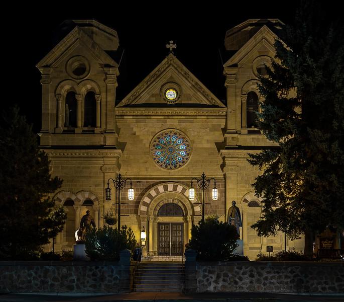 St. Francis Cathedral Basilica at Night