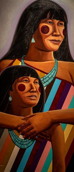 Artwork in the La Fonda Hotel in the Santa Fe Plaza