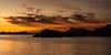 Isla Santa Catalina - Gulf of California (AKA Sea of Cortez) - Elephant Rock & Mountains at Sunset
