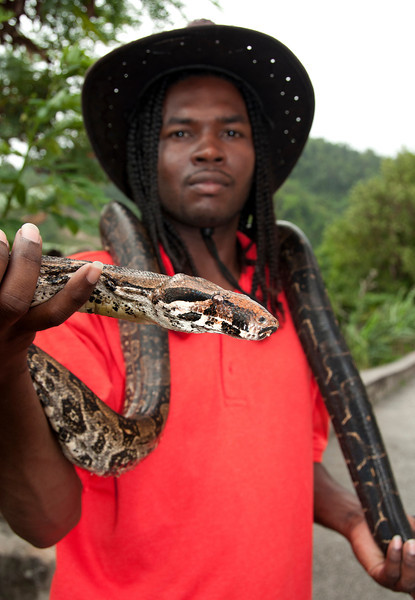 Snakeman with Boa Constrictor