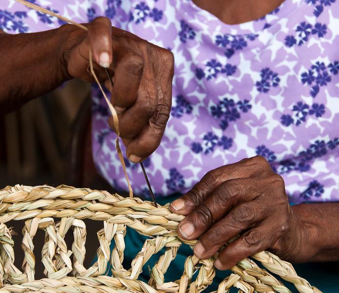 Castries - Vendor's Market - mat maker