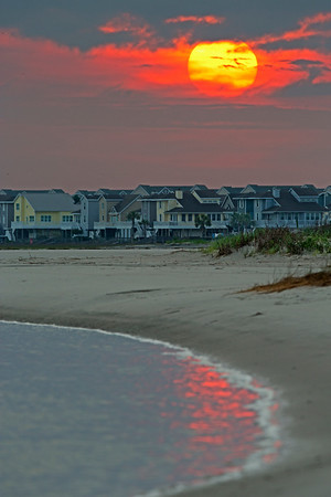 Sunrise on Sunset Beach, NC.