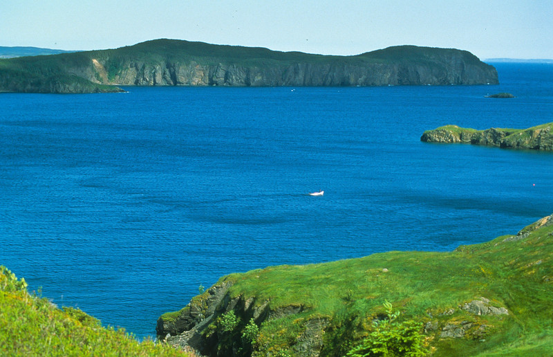 A beautiful blue bay, seldom seen.  The photographer can climb the cliffs for hours and will find marvelous images everywhere.