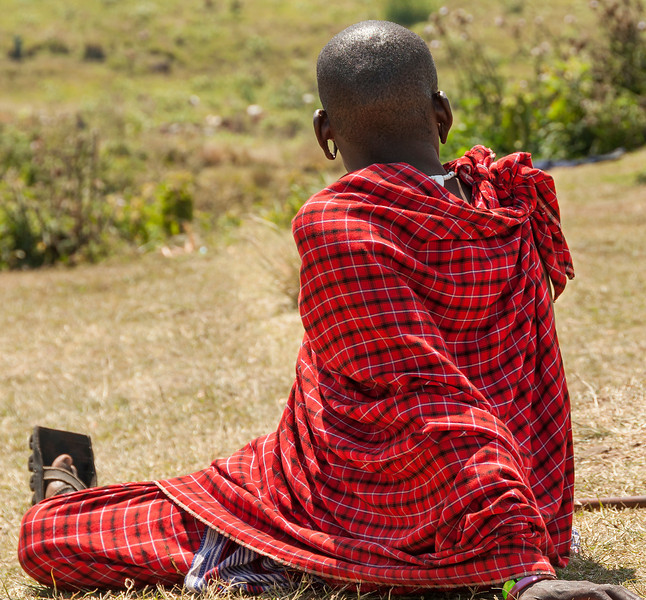 Maasai Village at Ngorongoro Crater - Maasai Warrior