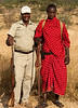 Tarangire Park - Elly & Maasai warrior - Guides on Walking Safari