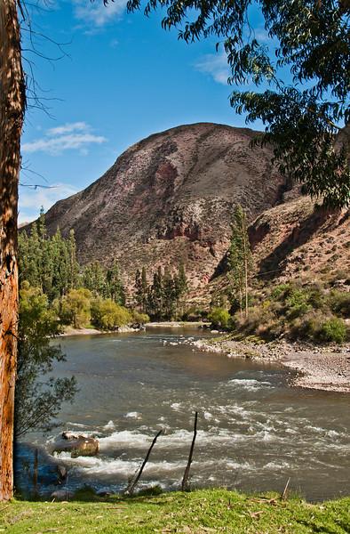 Cusco - The Sacred Valley of the Incas - River Scene at El Huerto Restaurant and Rio Sagrado Hotel