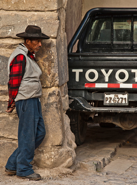 Cusco - The Sacred Valley of the Incas - Archaeological site of Ollantaytambo - Andean man