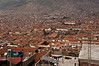 View of Cusco with the Monasterio seen as a square in the foreground