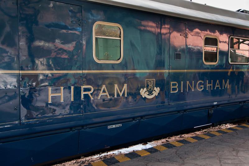 On the way to Machu Picchu - Preparing to board the Hiram Bingham train
