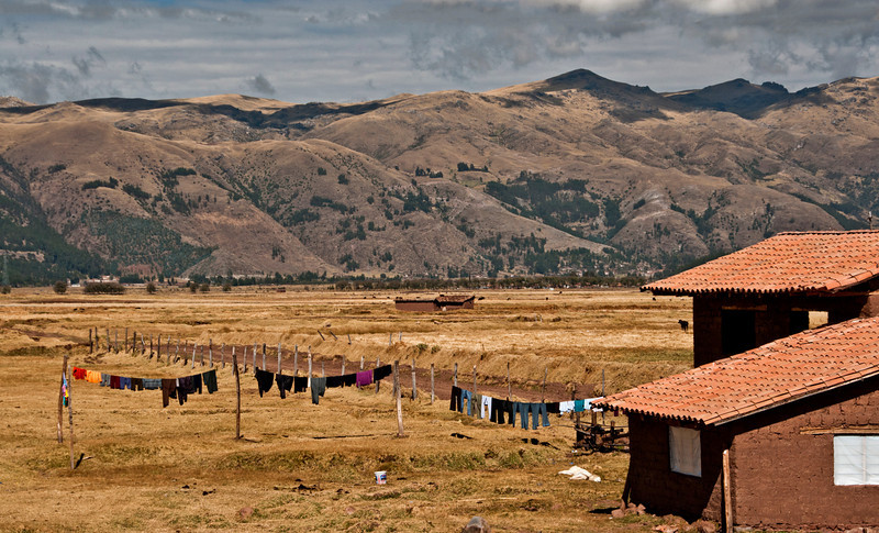 On the way to Machu Picchu - countryside images taken from the caboose