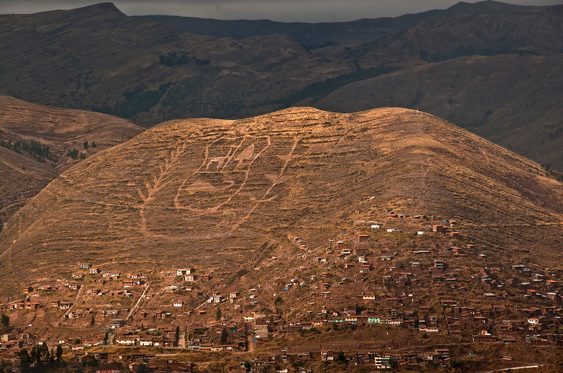 View of Cusco featuring mountain carving