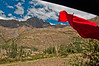 On the way to Machu Picchu - Images taken from the train - Peruvian flag