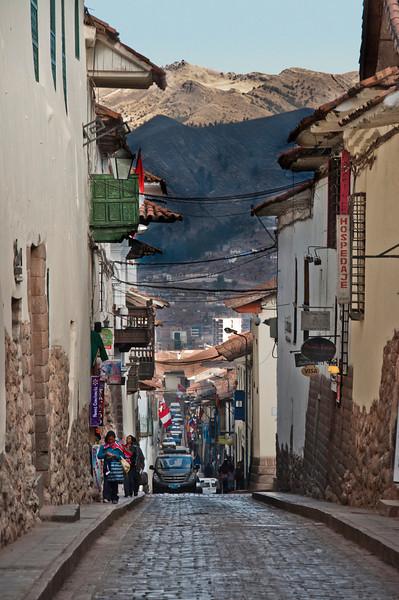Cusco - Street adjacent to the Monasterio