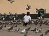 Peru - Lima - San Francisco Cathedral - Boy chasing pigeons