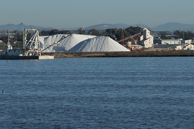 South Bay Salt Works plant, stockpiles and dredge.