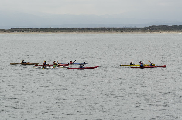 These kayakers were quite a ways out from the shore