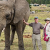 Jerry and Judy with one BIG elephant