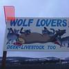 Anti-Wolf billboard near Elgin.