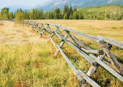 A wooden fence in Grand Teton National Park