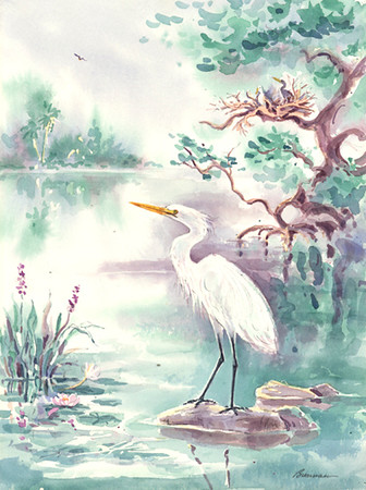 White Egret (left)