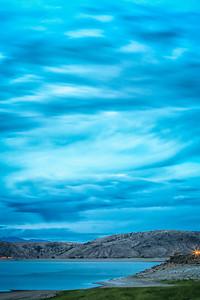 Blue Mesa Reservoir, 30 minutes after sunset Gunnison, Colorado  July 20, 2012