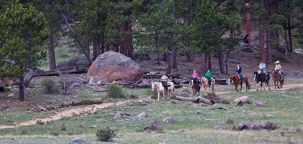 Horseback riders at Rocky Mountain National Park May, 2010